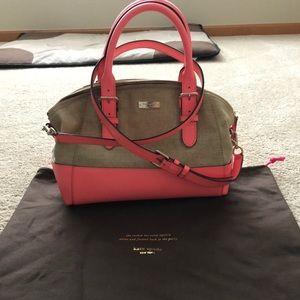 Coral and Burlap Kate Spade Handbag